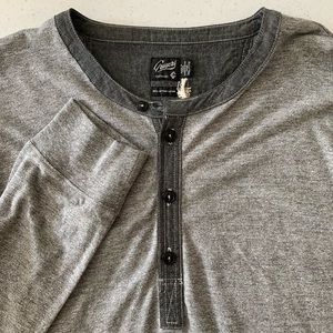 Grayer's Jersey Henley in Gray NWT